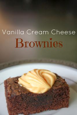 Fall Bake Sale: Vanilla Cream Cheese Brownies 1