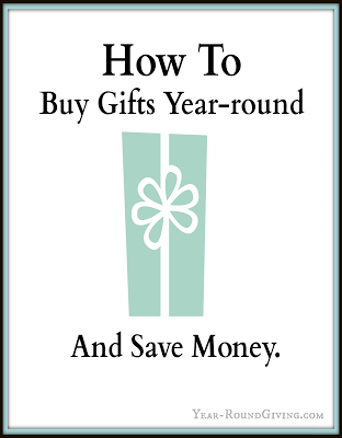 How to Buy Gifts Year-Round and Save Money