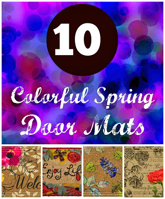 10 Colorful Spring Door Mats 19