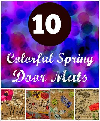 10 Colorful Spring Door Mats 19