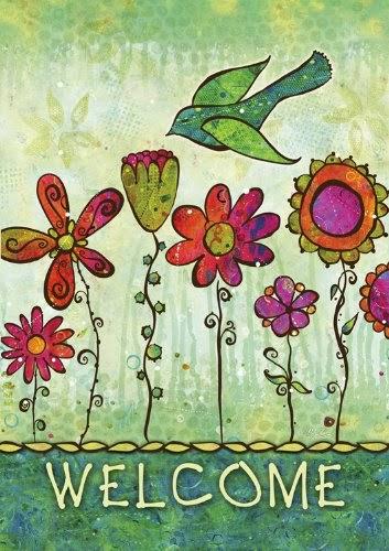Groovy Blooms Garden Flag