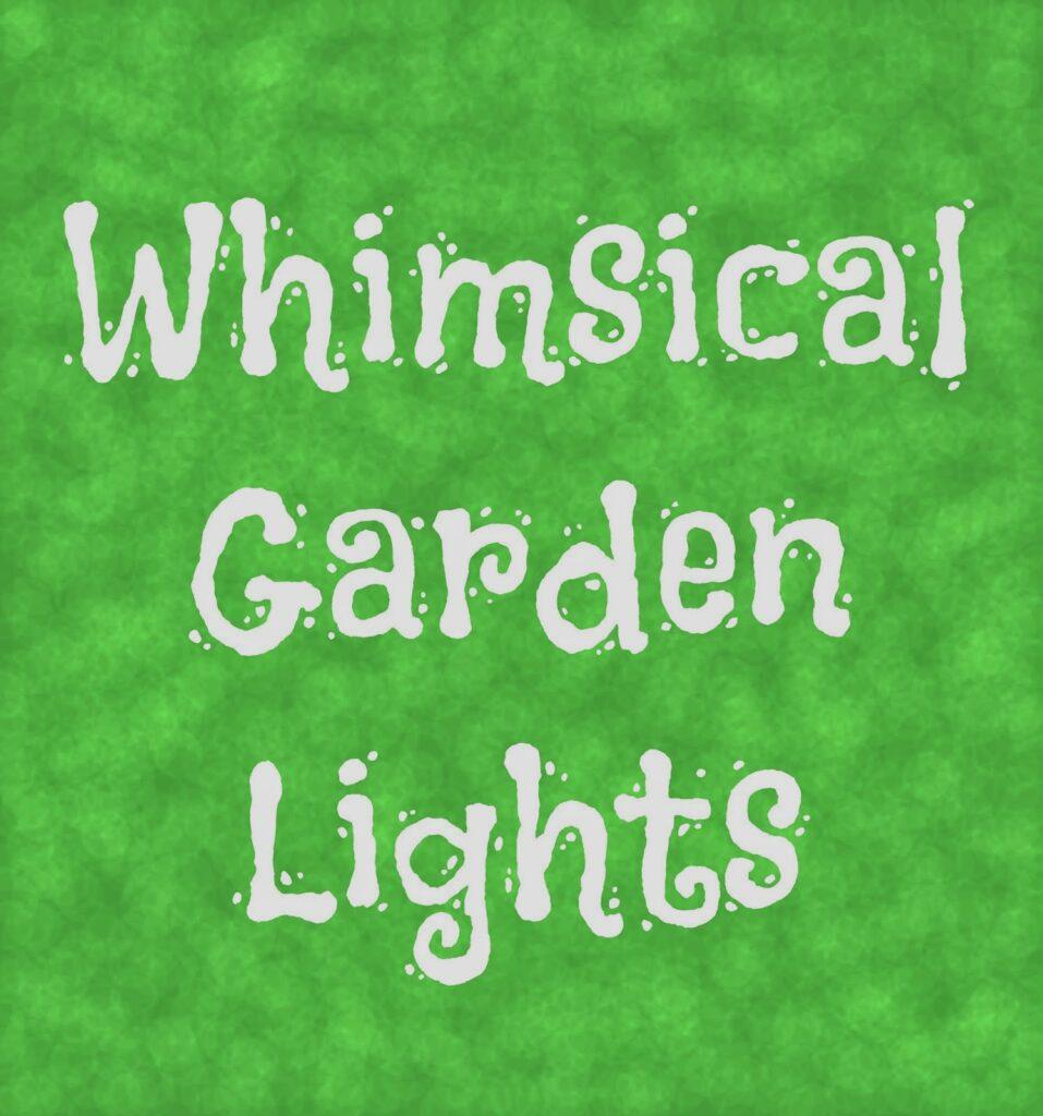Decorative Lighting for your Garden 1