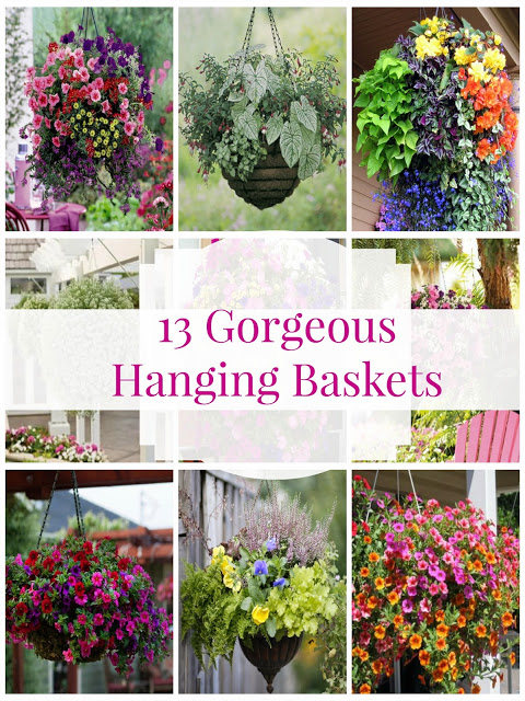 gorgeous hanging flower baskets