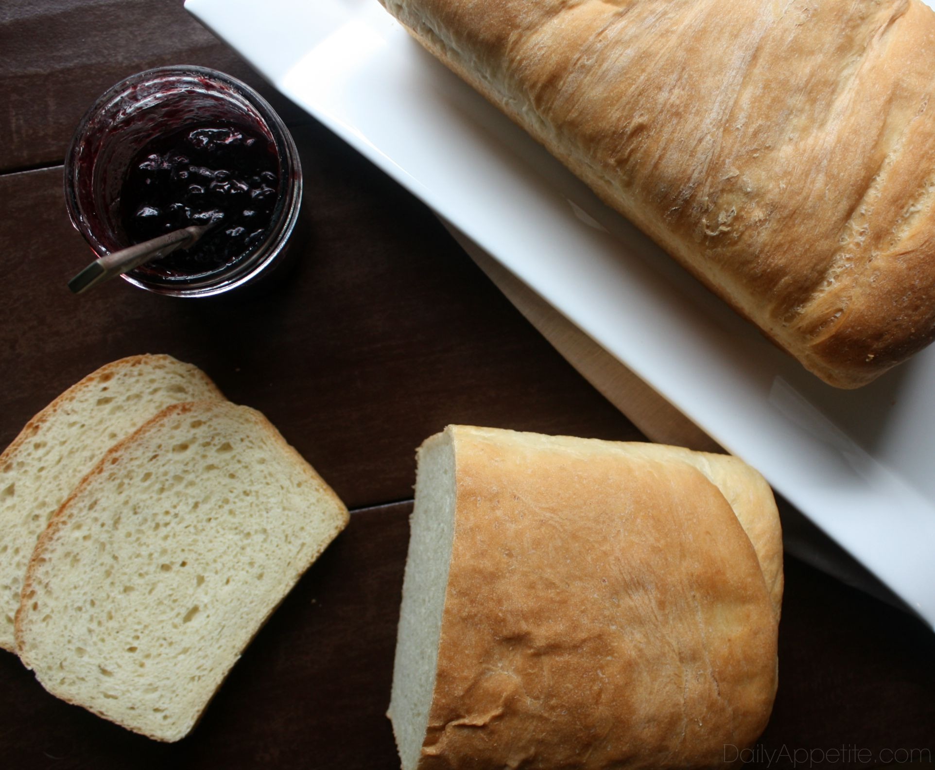 Homemade Bread with Jam