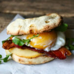 Bacon, Egg and Smoked Gouda Breakfast Sandwich