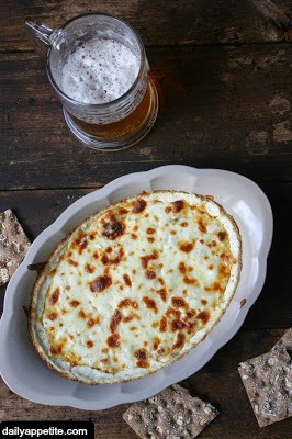 Hot bubbly Beer Cheese Dip.