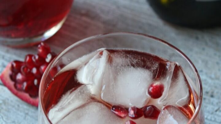 The Pomegranate Fizz is a wine cocktail that is festive and perfect for the holidays. With pomegranates in season and their bright red color they need to be on your holiday cocktail menu.