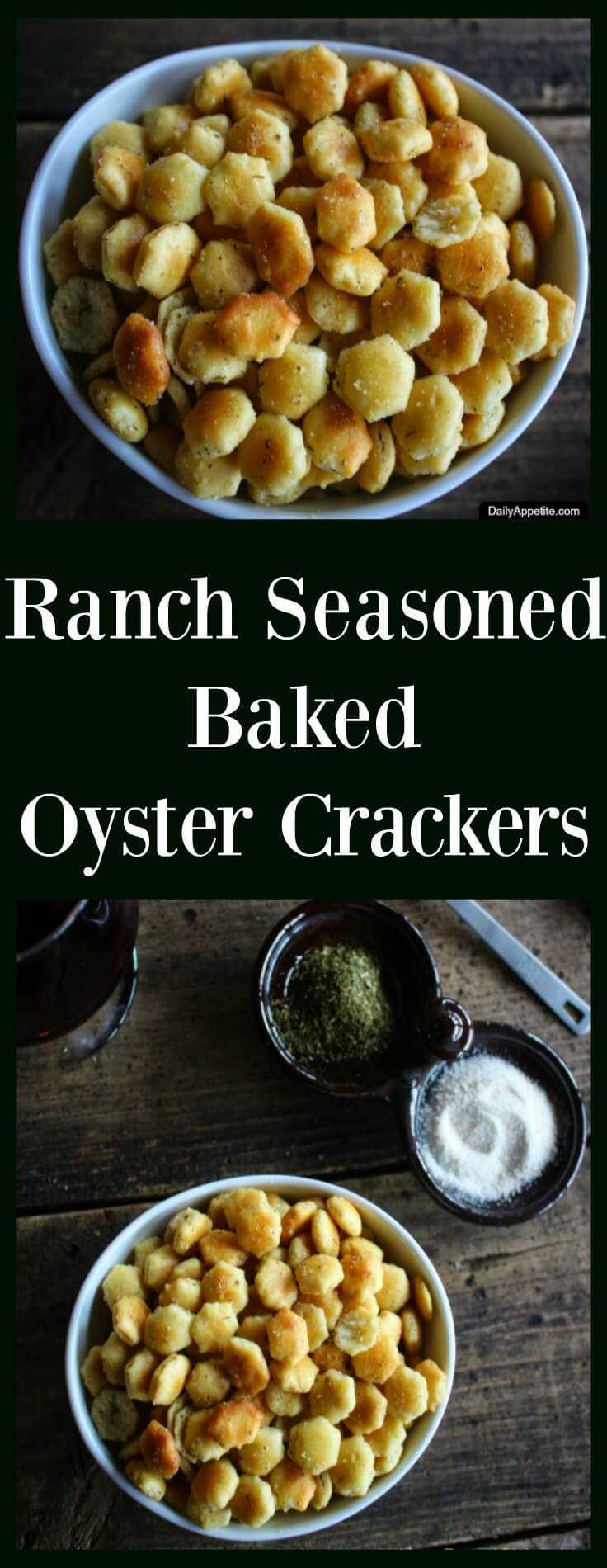 Ranch Seasoned Baked Oyster Crackers