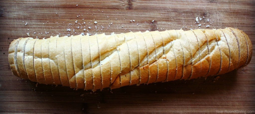 Sliced Italian bread for Spicy Cheese Toast