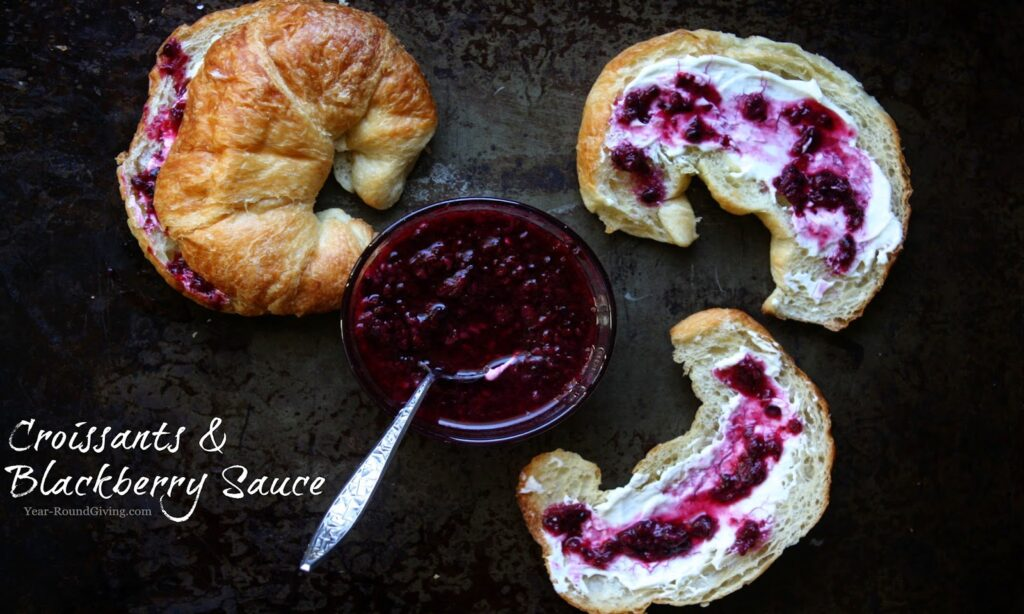 Croissants with Cream Cheese & Homemade Blackberry Sauce