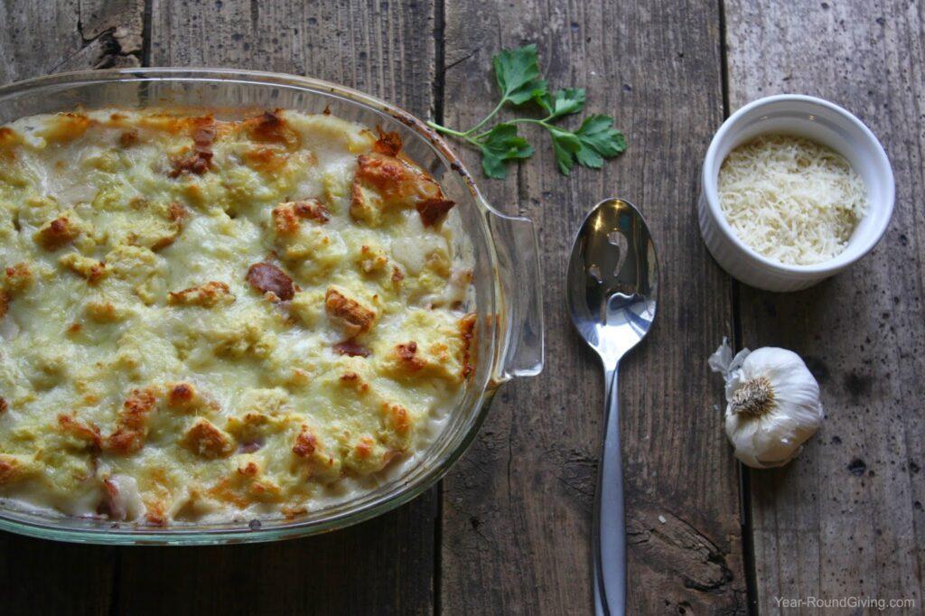 Croque Monsieur Macaroni and Cheese