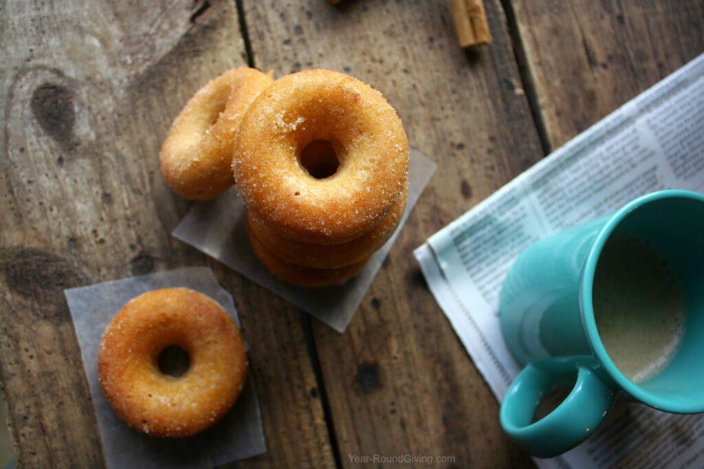 Cinnamom & Sugar Baked Donuts