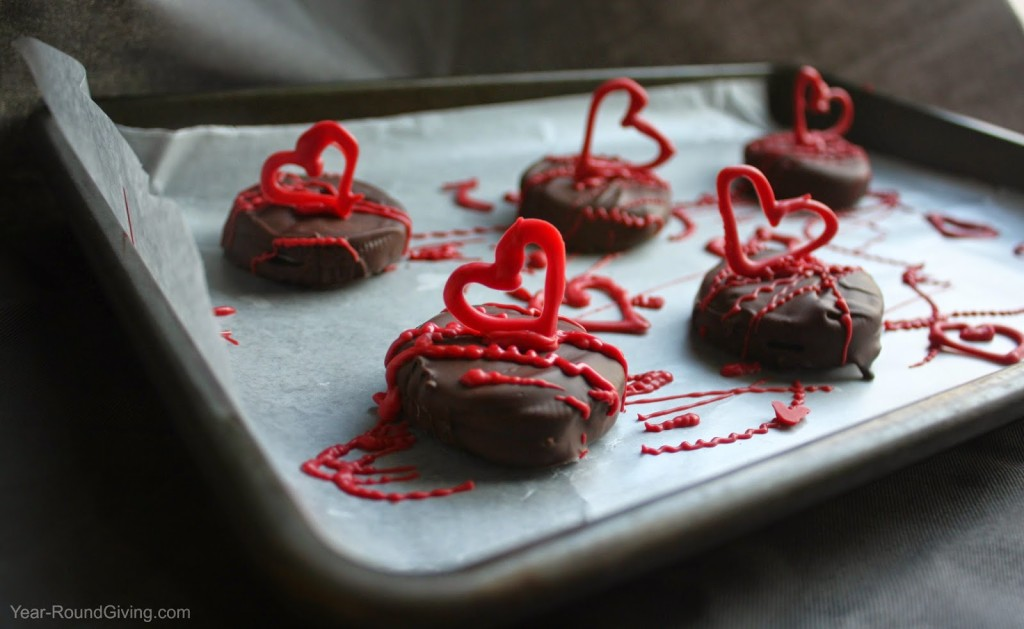 Chocolate Covered Candy Heart OREOs