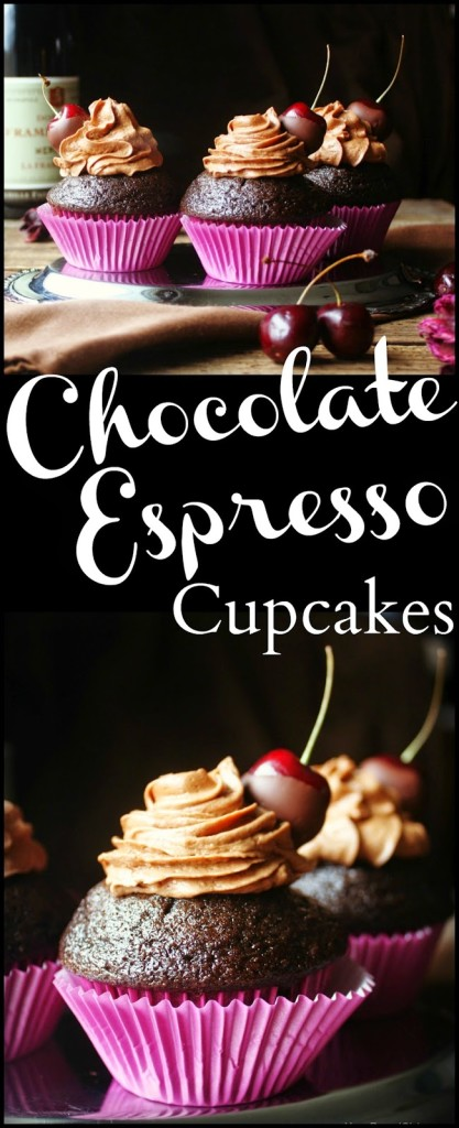 Chocolate Espresso Cupcakes with Chocolate Covered Cherries 1