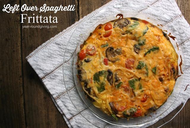 Left Over Spaghetti Frittata
