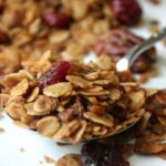 Homemade Cinnamon Pecan Raisin Granola 1