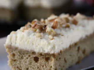Cardamom Coffee Bars with Vanilla Bean Mascarpone Frosting