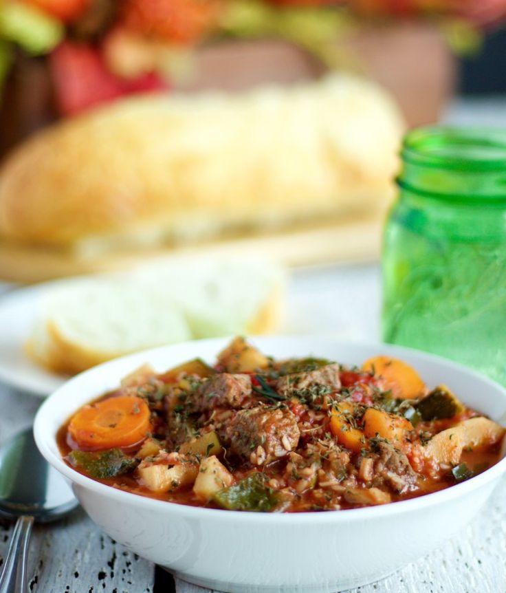 Crock Pot Beef & Rice Stew plus 60+ Parsnip Recipes