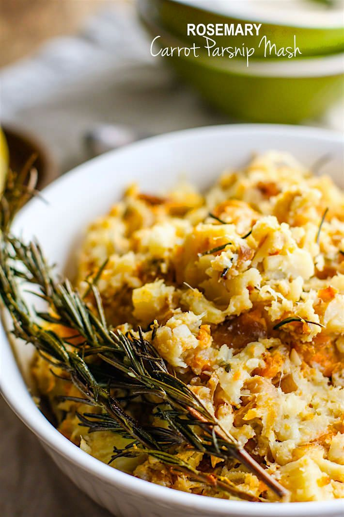 Crock Pot Rosemary Carrot and Parsnip Mash plus 60+ Recipes using Parsnips