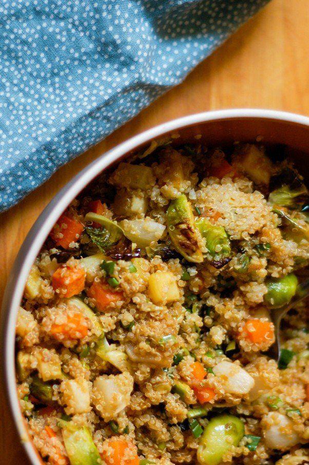 Ginger Scallion Quinoa with Roasted Veggies plus 60+ Parsnip Recipes