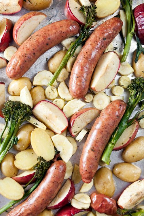 Roast Sausages with Apples and Parsnips plus 60+ Recipes for Parsnips