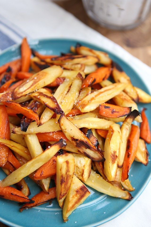 Honey Roasted Parsnips and Carrots plus 60+ Recipes for Parsnips