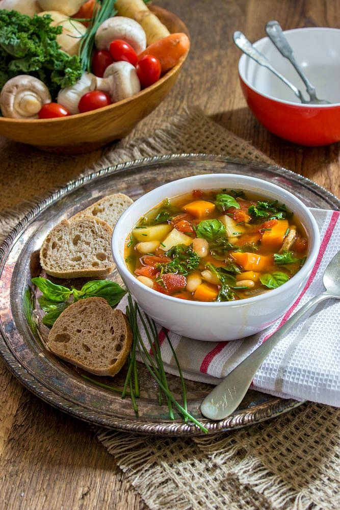 Tuscan Kale, Carrot and Parsnip Soup plus 60+ Parsnip Recipes