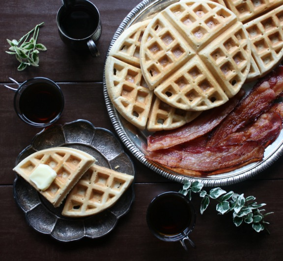 This is our family's fluffy and delicious waffles from scratch recipe.