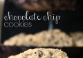 Chocolate Chip Cookies Recipe. These cookies have a cake like texture and perfectly portioned amount of chocolate chips. So good!!