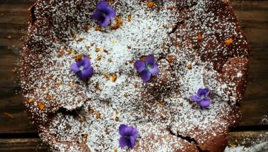 Flourless Chocolate Orange Torte.