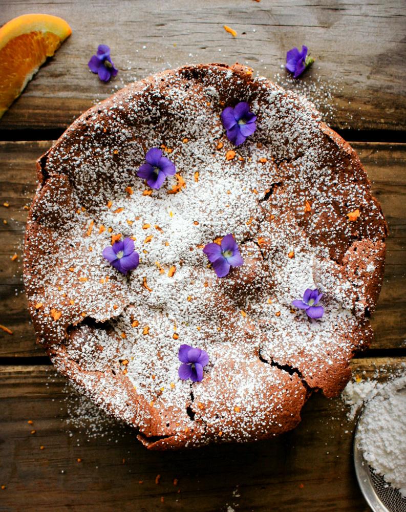 Flourless Chocolate Orange Torte