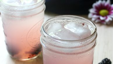 Blackberry Vodka Lemonade Fizz. Perfect summer cocktail.