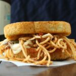 Grilled Mozzarella and Spaghetti Sandwich 1