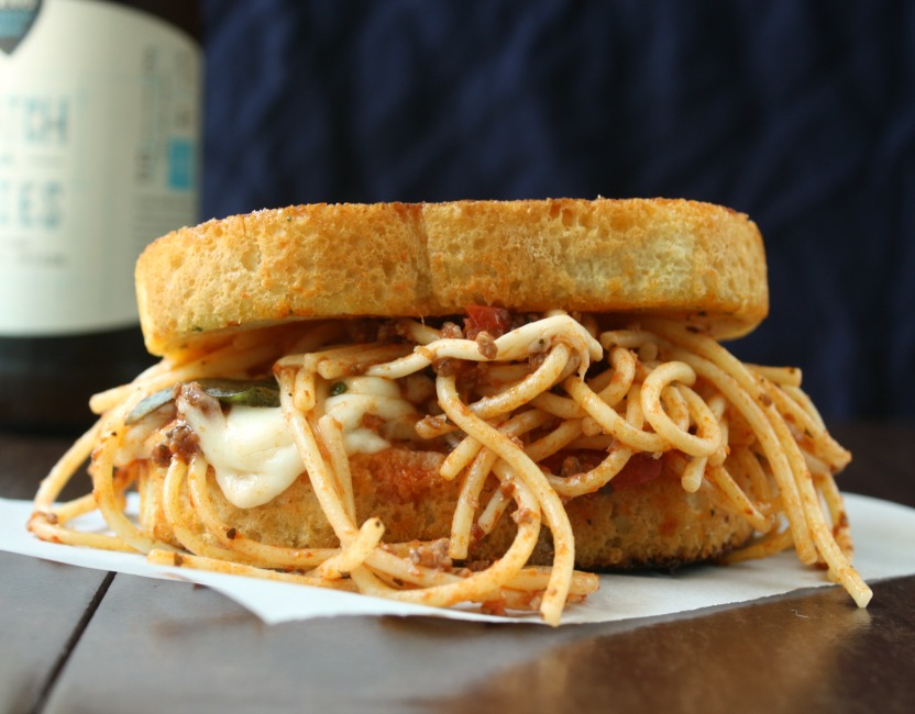 Grilled Mozzarella and Spaghetti Sandwich - Daily Appetite