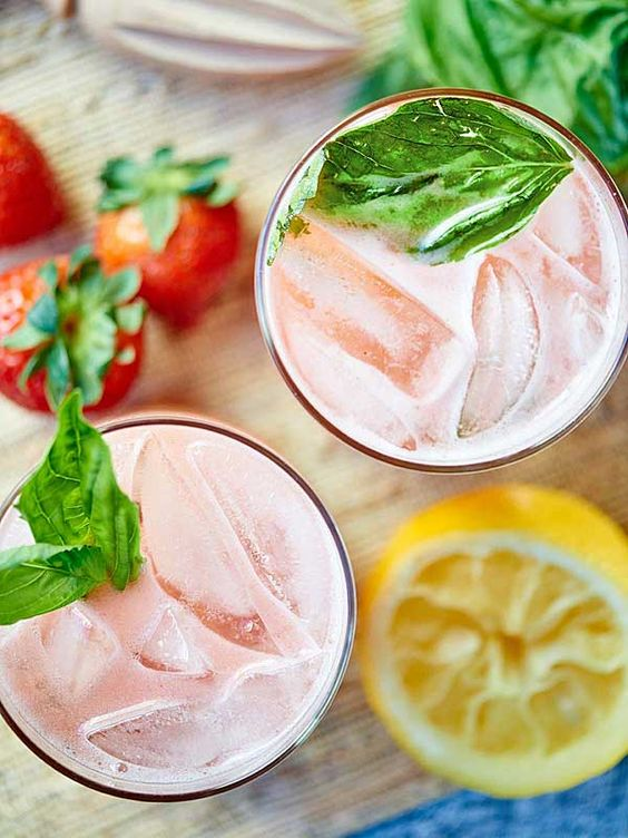 Strawberry Basil Gin Cocktail plus 40 more gin cocktail recipes.