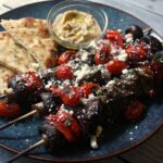 Beef Kabobs with Blistered Tomatoes and Feta 1