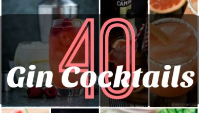 A collection of 40 Gin Cocktail Recipes.