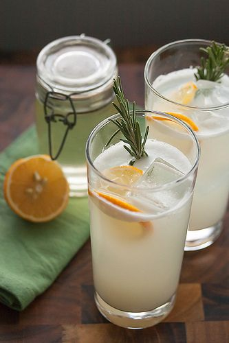 Meyer Lemon Rosemary Gin Fizz cocktail plus 40 more gin cocktail recipes.
