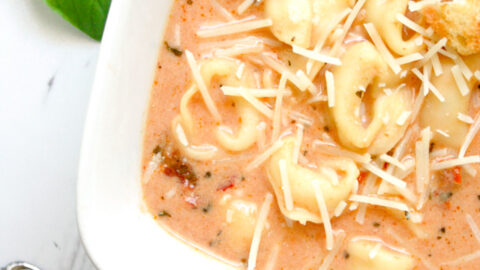 Creamy Tomato Tortellini Soup - Daily Appetite