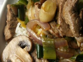 Beef and Leek Stir-Fry Recipe. Create a fresh stir-fry with fresh leeks, mushrooms and onions with tender beef tonight for a dinner ready in 30 mins.