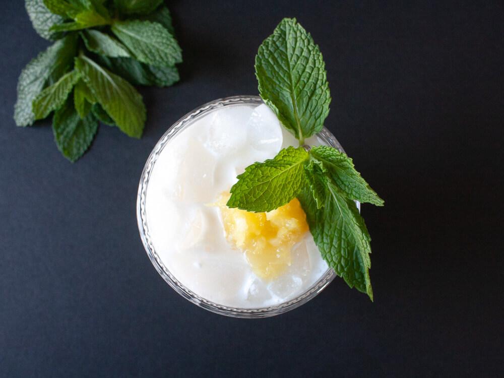 Coconut, Pineapple Rumchata Cocktail