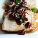 Pork Tenderloin with Cranberry Cilantro Relish 1