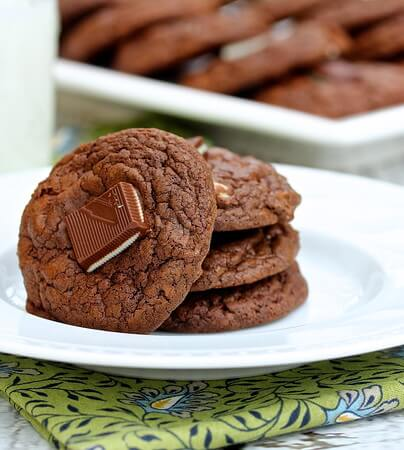 Chocolate Andes Mint Cookies plus 20 more Chocolate Cookie Recipes
