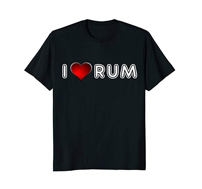 I heart rum t-shirt