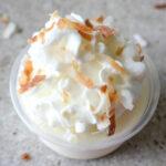 Coconut RumChata Pudding Shots