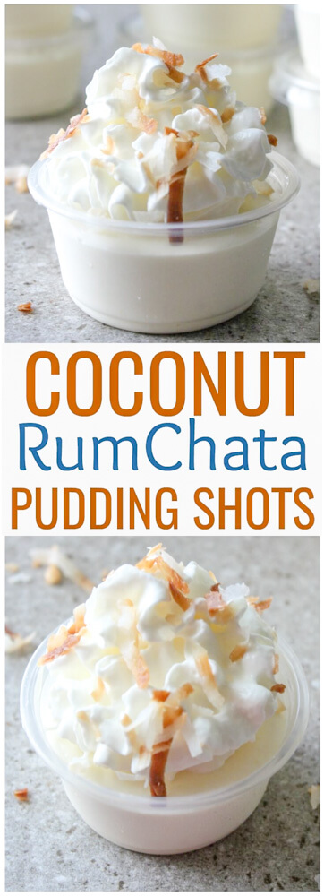 Coconut RumChata Pudding Shots