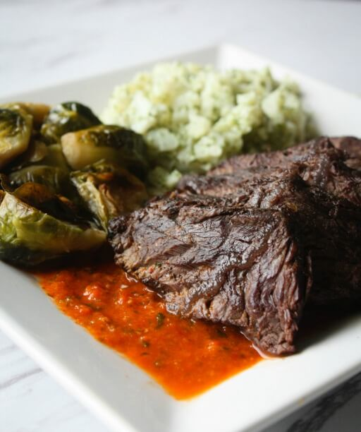 Peri Peri Steak with Vegetables by Home Bistro. Prepared Meal Delivery Review.