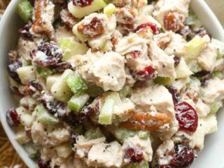 Leftover roasted chicken recipe - Fall Chicken Salad