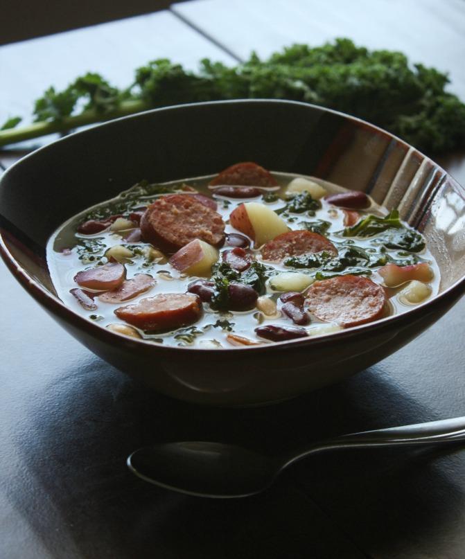 Sausage Kale Bean Soup