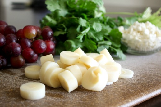 Hearts of Palm and Grape Salad Ingredients